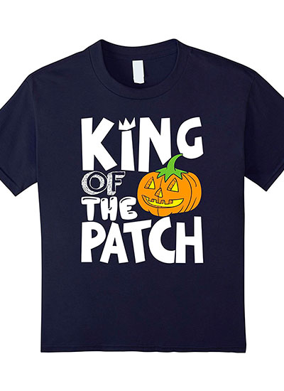 King Of The Patch Halloween Shirt For Boys